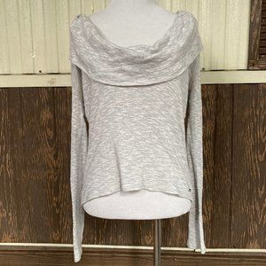 Alo off shoulder sweater gray size M